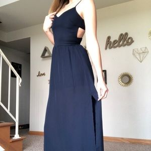 Anthropologie / Sans Souci Navy Maxi Dress